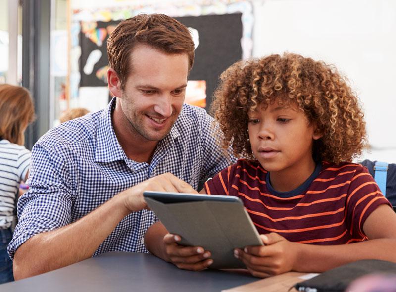 Boy and Teacher
