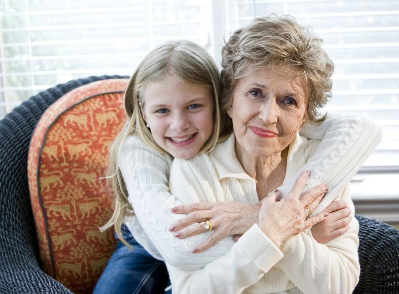 Young Girl and Gran